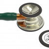 6206 3M Stethoscope Littmann Cardiology IV Hunter Green with Orange Stem and Champagne Finish