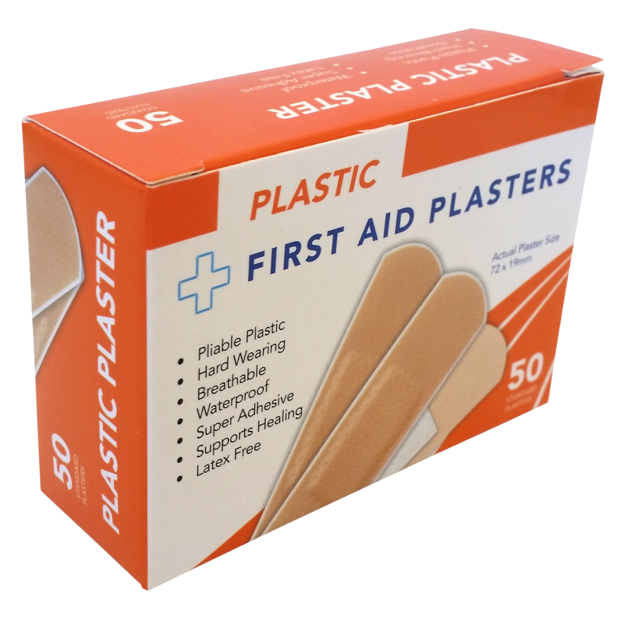 Plaster Plastic First Aid 72mm x 19mm